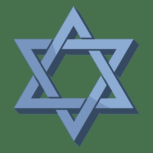 Hexagram isometric shape Transparent PNG