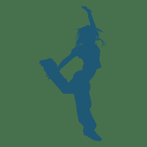Hip hop dancer jumping silhouette