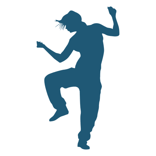 Hip Hop Dancer Silhouette Transparent Png Svg Vector File