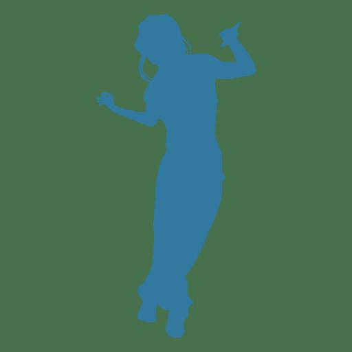 Hip hop dancer woman silhouette