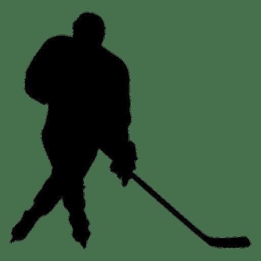Silhueta separatista de jogador de hóquei Transparent PNG