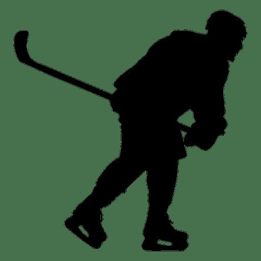 Silhueta de patinação de jogador de hóquei Transparent PNG