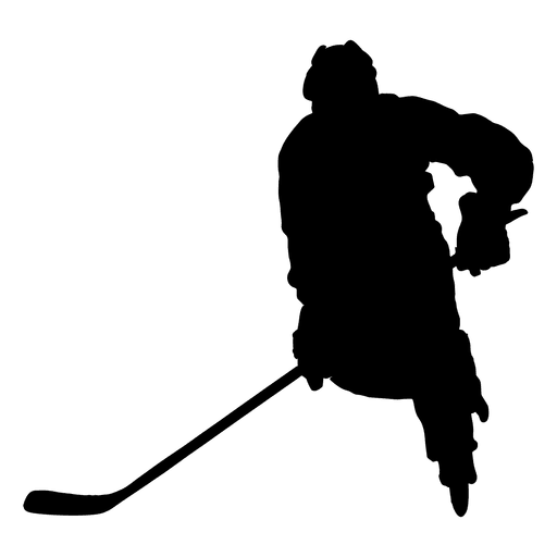 Silhueta de stickmanling de jogador de hóquei Transparent PNG