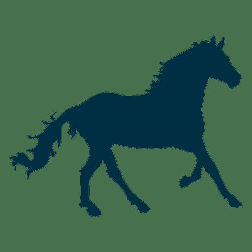 Silueta galope del caballo