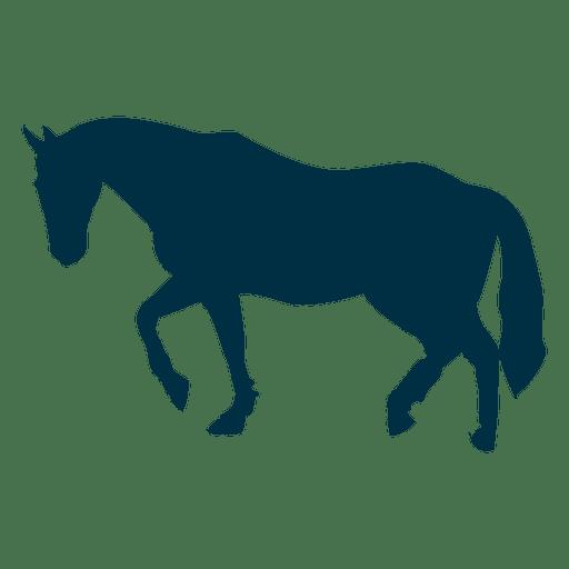 Pferd zu Fuß Silhouette Transparent PNG