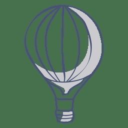 Símbolo de globo de aire caliente