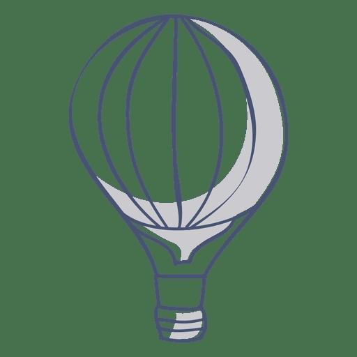 Símbolo de globo de aire caliente Transparent PNG