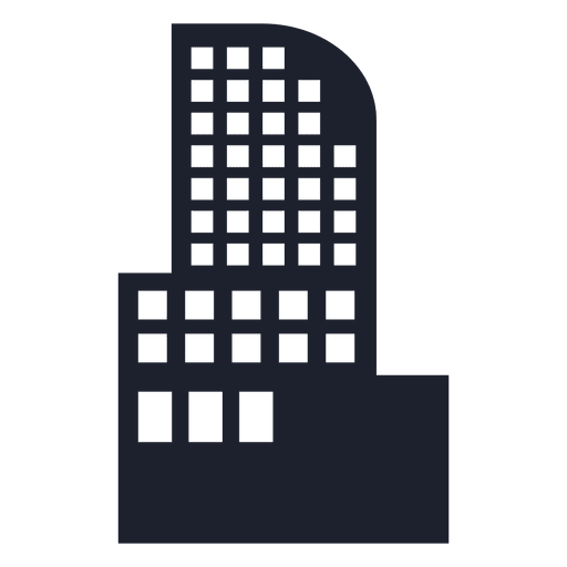 Hotel building silhouette Transparent PNG