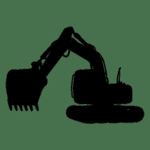 Hydraulic excavator silhouette