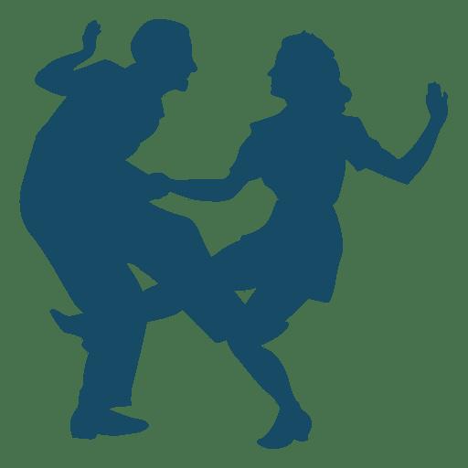 Lindy hop danza gran patada silueta Transparent PNG