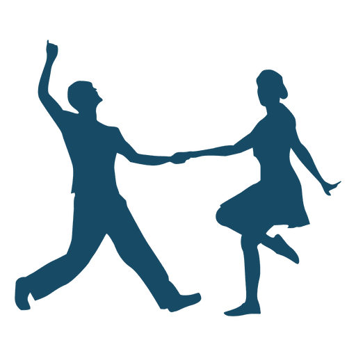 Lindy hop danza pareja silueta Transparent PNG