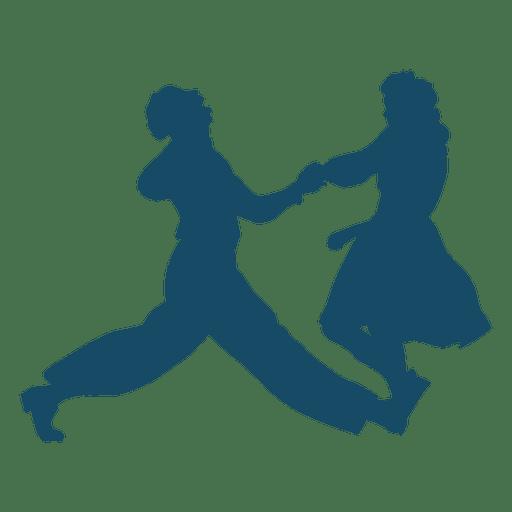Lindy hop danza silueta Transparent PNG
