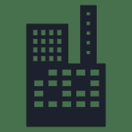 Silueta de edificio de centro comercial Transparent PNG
