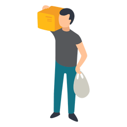 Man carrying illustration