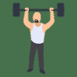 Homem, condicão física, treinamento, ilustração
