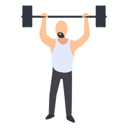 Man fitness training illustration