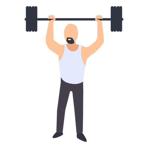 Man fitness training illustration Transparent PNG