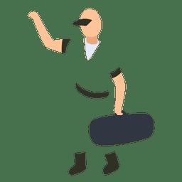 Homem, massagista, ilustração