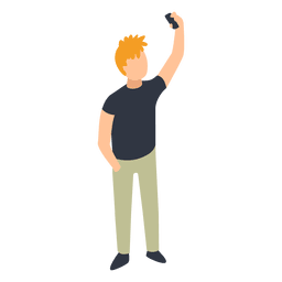 Man taking selfie illustration