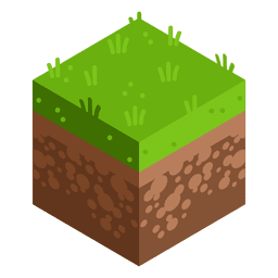 Meadow isometric landscape