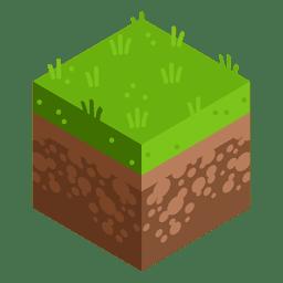 Wiese isometrische Landschaft