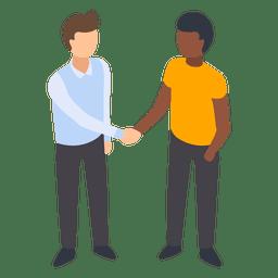Homens, handshaking, ilustração