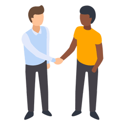 Men handshaking illustration