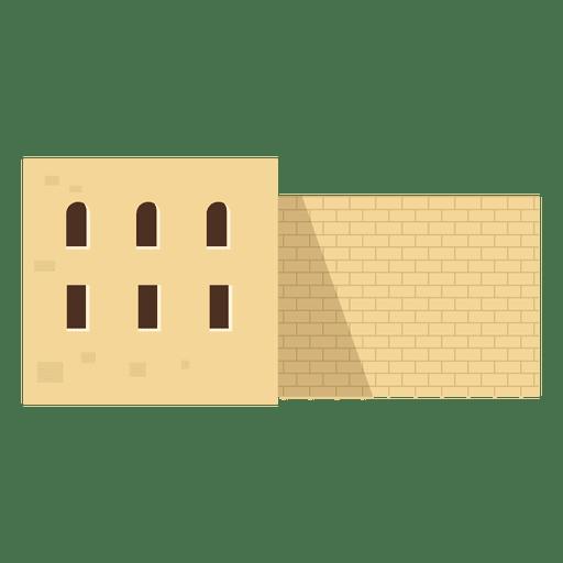 Ilustración de la casa de Oriente Medio Transparent PNG
