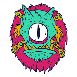 Ilustração do cyclops face Monster