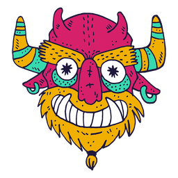 Monster face devil illustration
