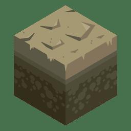 Paisagem isométrica da lama