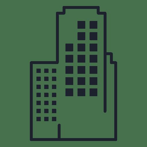 Office building stroke Transparent PNG
