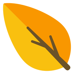 Orange leaf illustration
