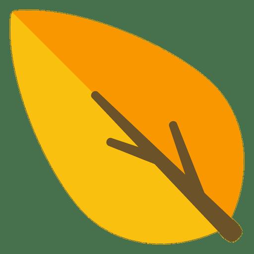Orange leaf illustration Transparent PNG