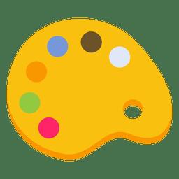 Ilustración de la pizarra de pintura