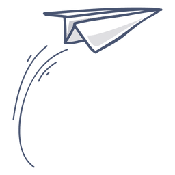 Paper airplane illustration