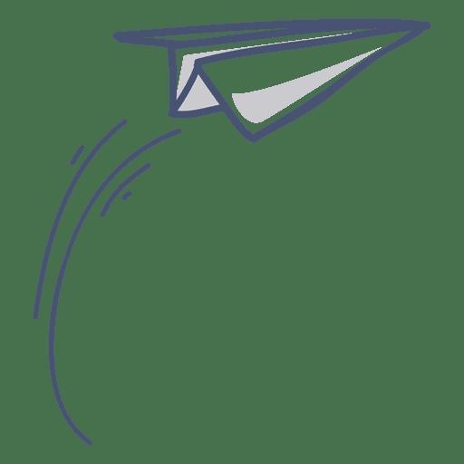 Ilustración de avión de papel Transparent PNG