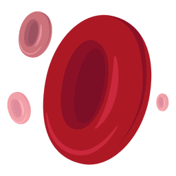 Ilustração dos glóbulos vermelhos