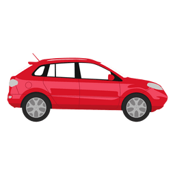 Red suv illustration