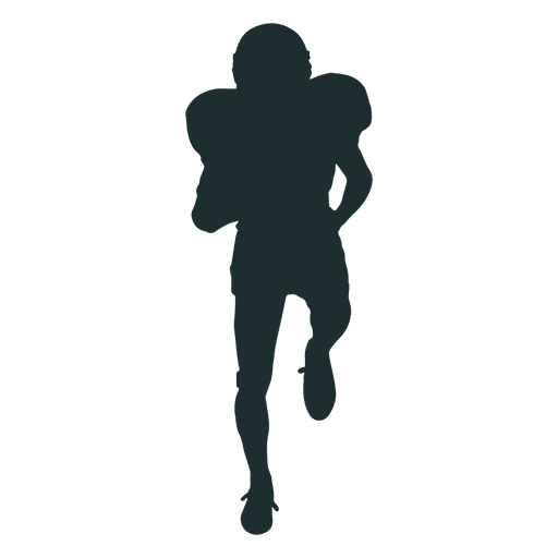 Executando a silhueta de jogador de futebol americano Transparent PNG