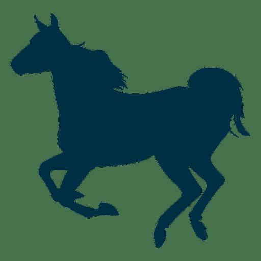 Laufendes Pferdeschattenbild Transparent PNG