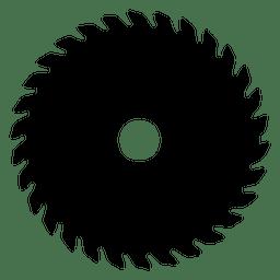Silhueta de lâmina de serra