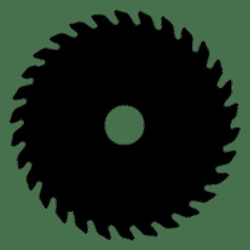 Silhueta da lâmina de serra