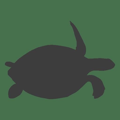 Silueta de tortuga marina Transparent PNG