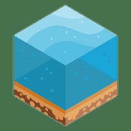 Meereisometrische Landschaft