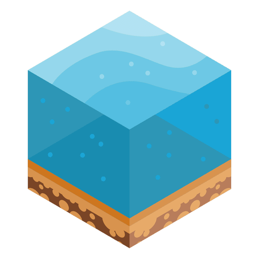 Sea isometric landscape Transparent PNG