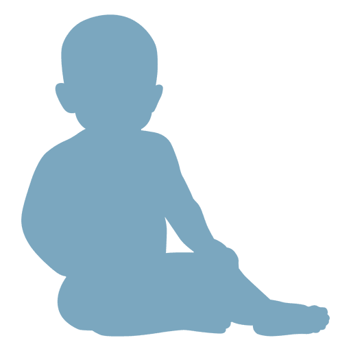 Sitting baby silhouette - Transparent PNG & SVG vector