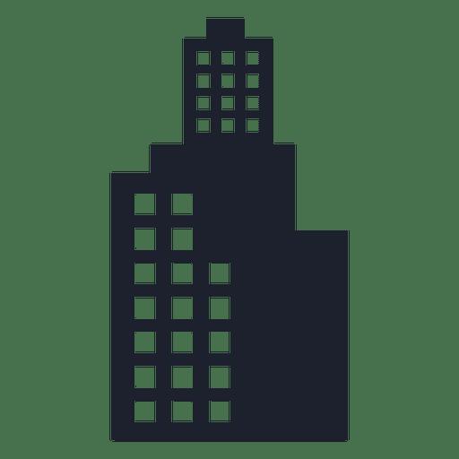 Skyscraper building silhouette