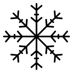 Snowflake line arrows