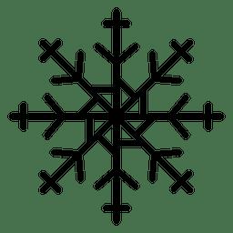 Copos de nieve línea flechas y cruz